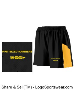 Pint Sized Harrier Youth Running Shorts Design Zoom