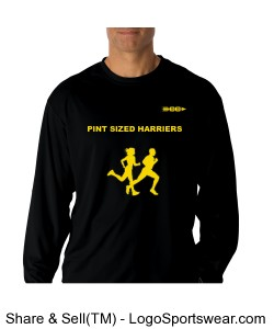 Pint Sized Harrier Mens Dry Fit Long Sleeve Design Zoom