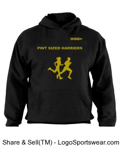 Pint Sized Harrier Youth Hooded Sweatshirt Design Zoom